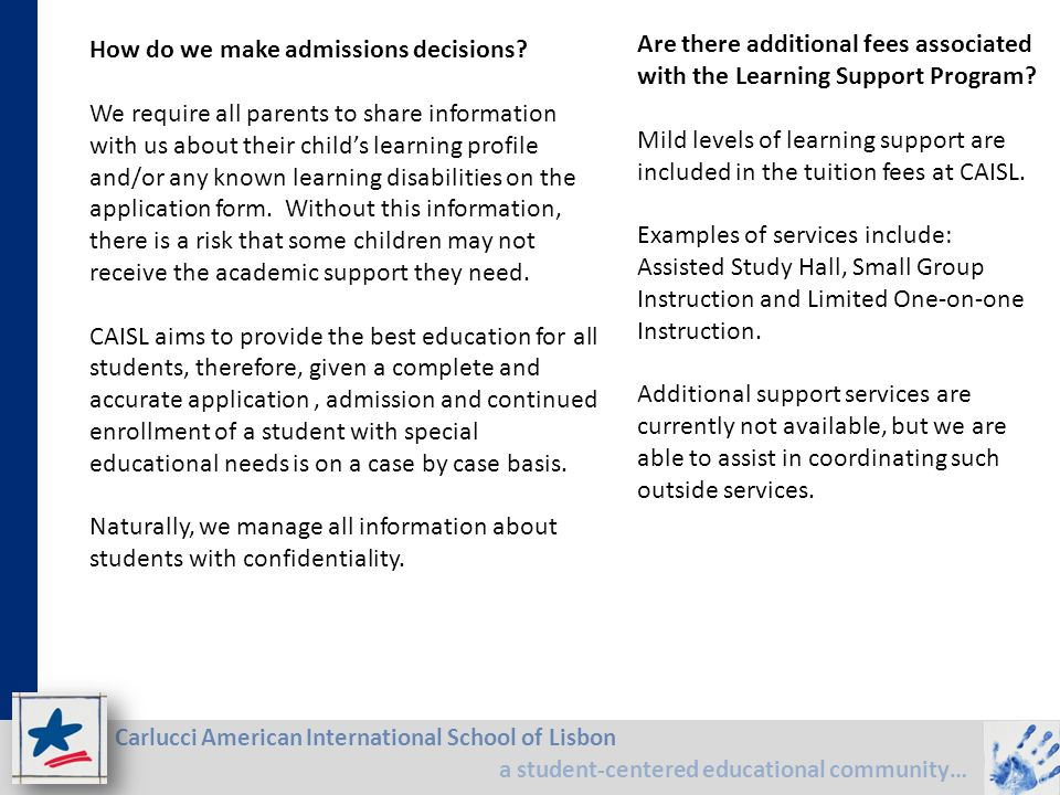How do we make admissions decisions