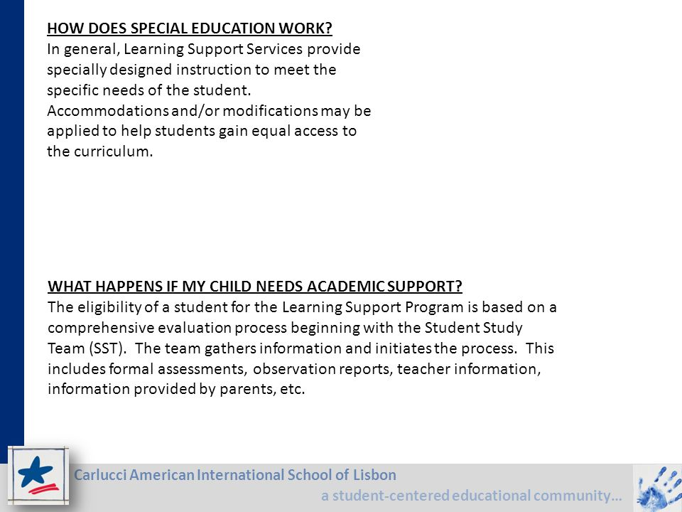 HOW DOES SPECIAL EDUCATION WORK