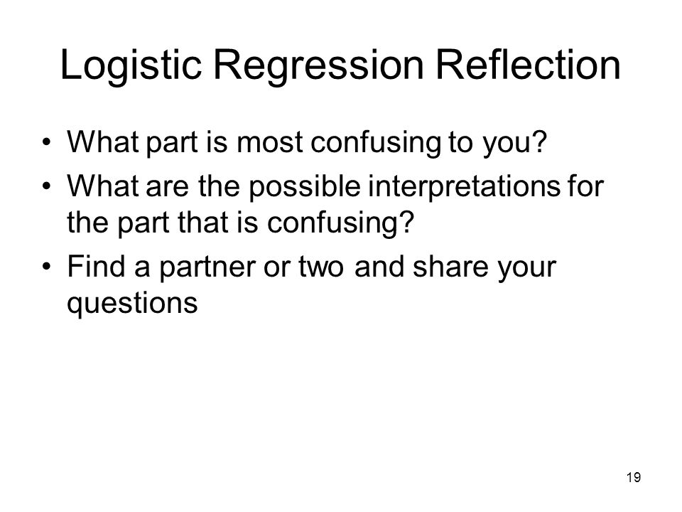 Logistic Regression Reflection