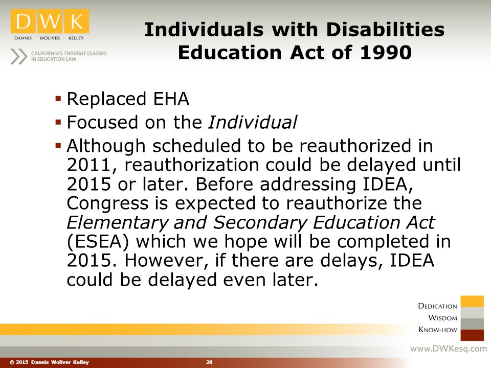 Individuals with Disabilities Education Act of 1990