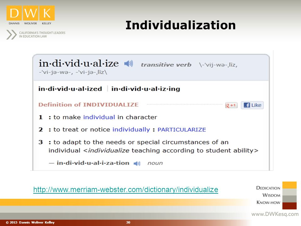 Individualization http://www.merriam-webster.com/dictionary/individualize