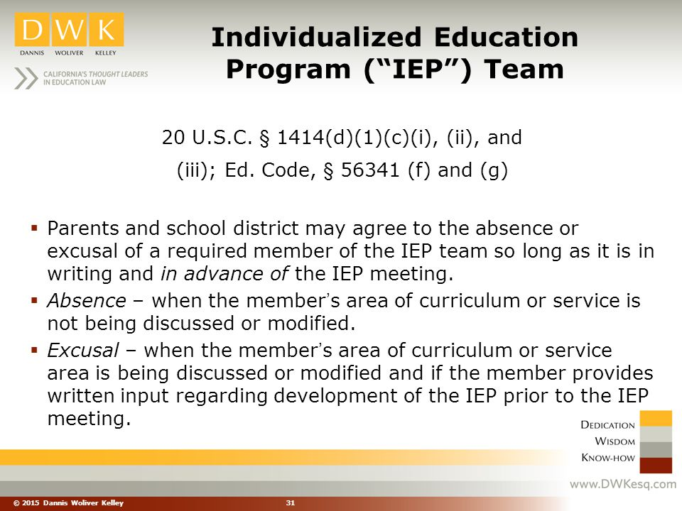 Individualized Education Program ( IEP ) Team