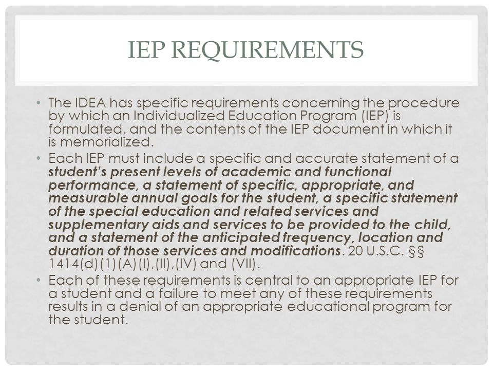 IEP Requirements