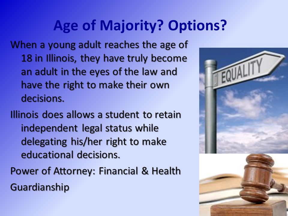 Age of Majority Options