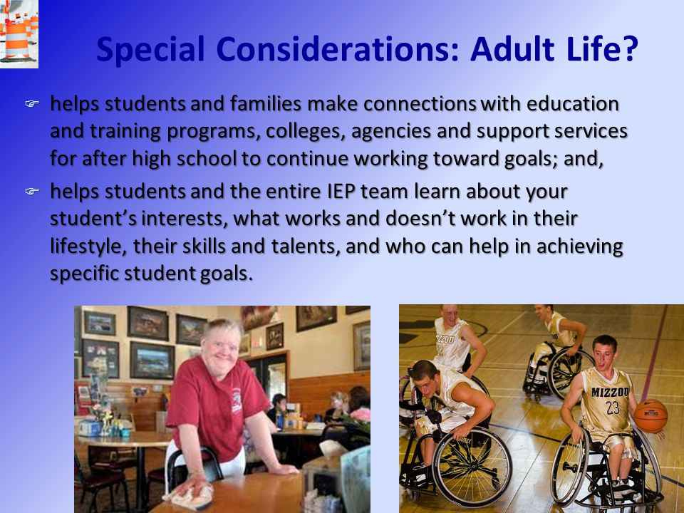 Special Considerations: Adult Life