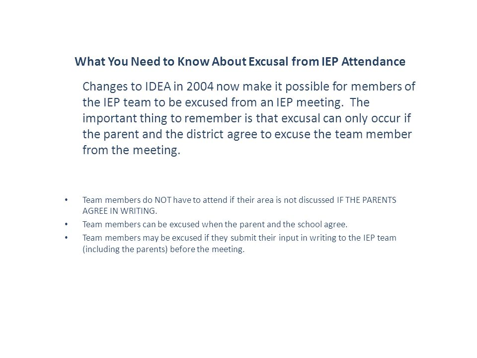 What You Need to Know About Excusal from IEP Attendance