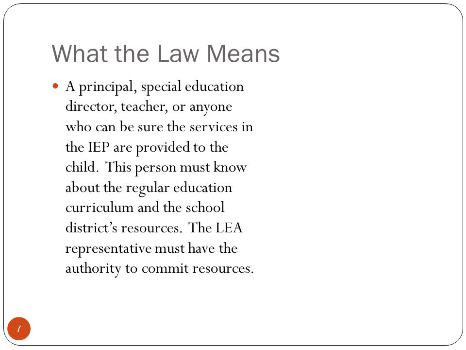 What the Law Means
