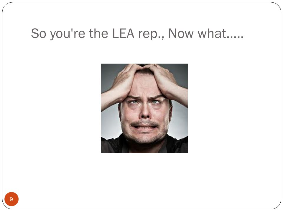 So you re the LEA rep., Now what…..