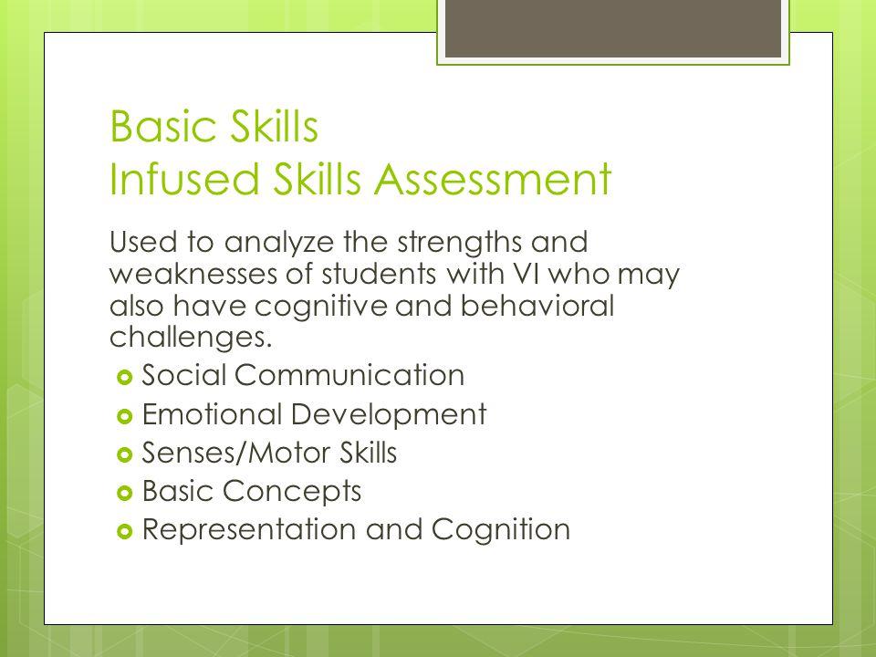 Basic Skills Infused Skills Assessment