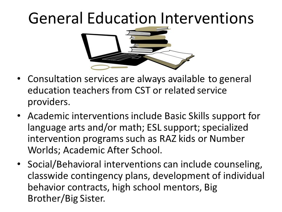 General Education Interventions