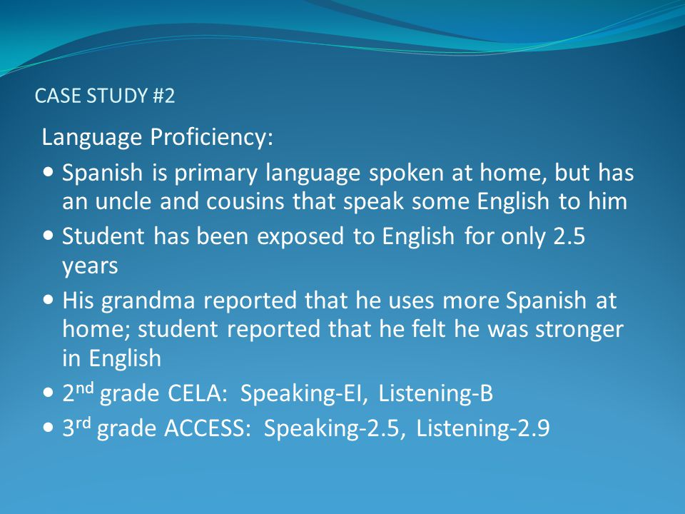 Language Proficiency: