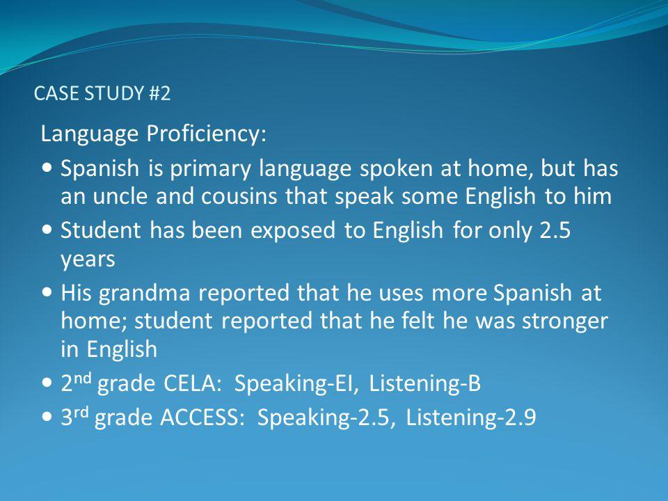 Language Proficiency: