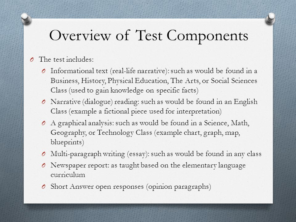 Overview of Test Components