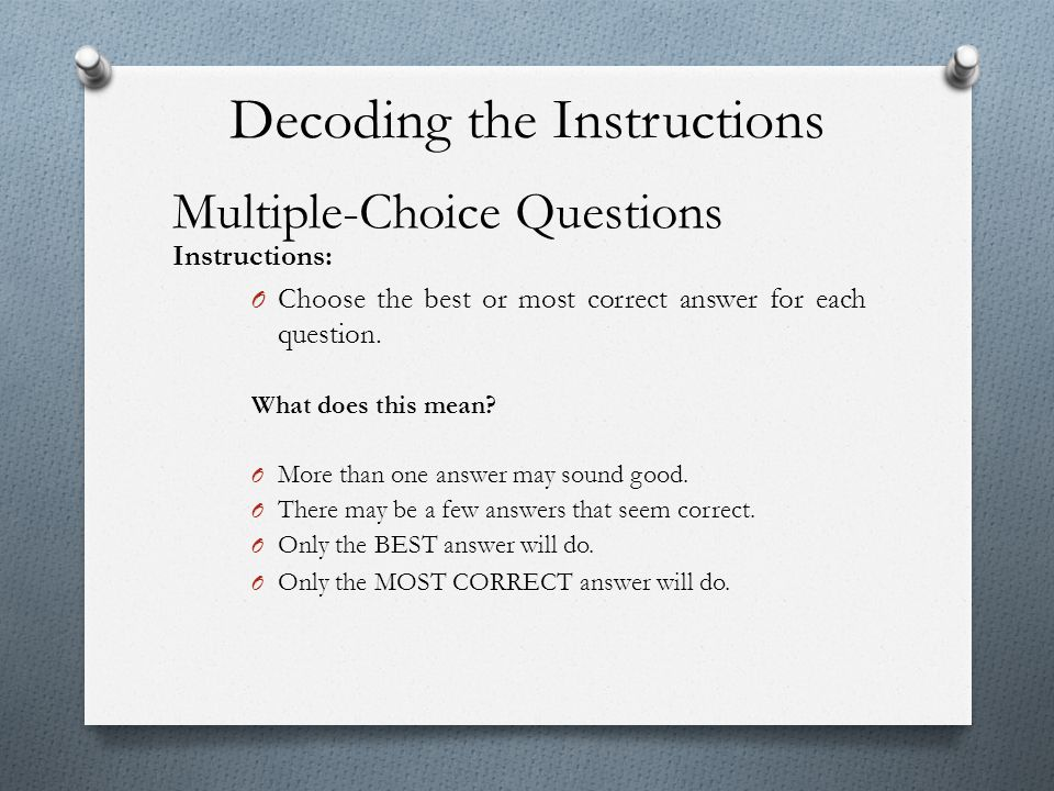 Decoding the Instructions