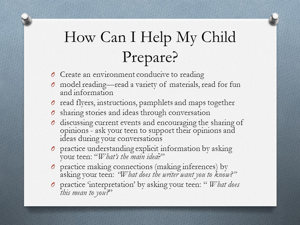 How Can I Help My Child Prepare