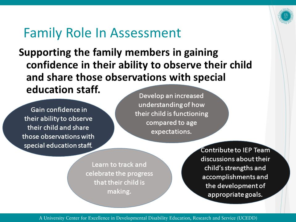 Family Role In Assessment
