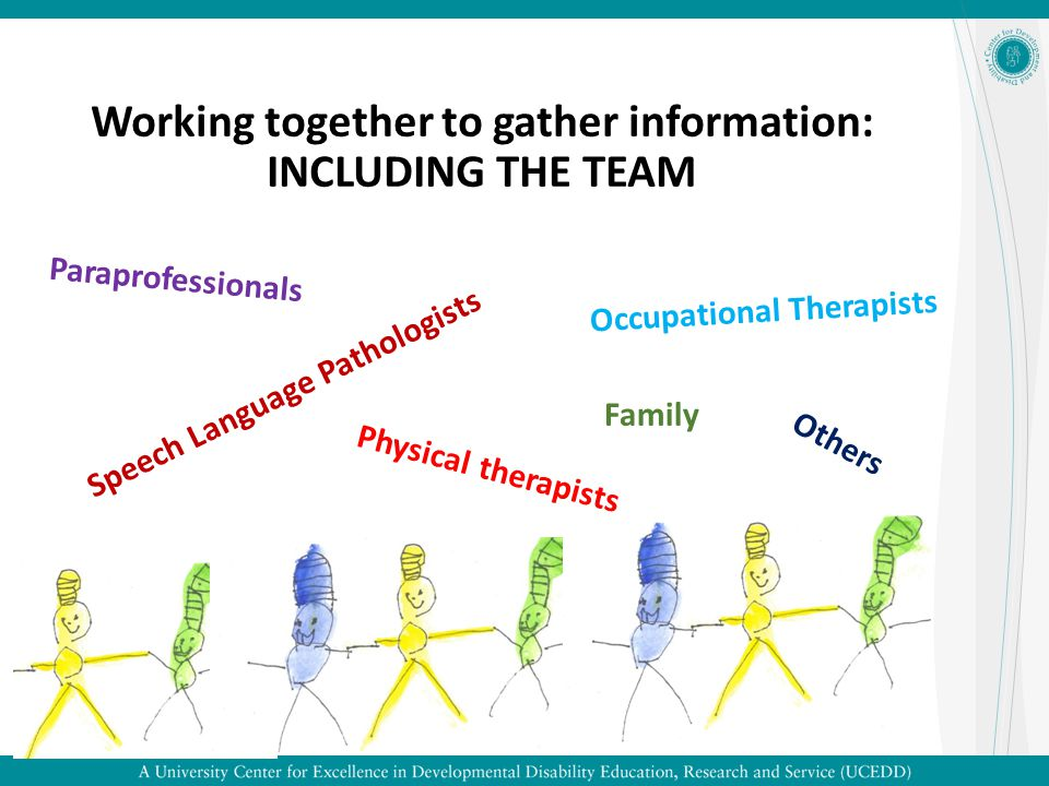 Working together to gather information: INCLUDING THE TEAM