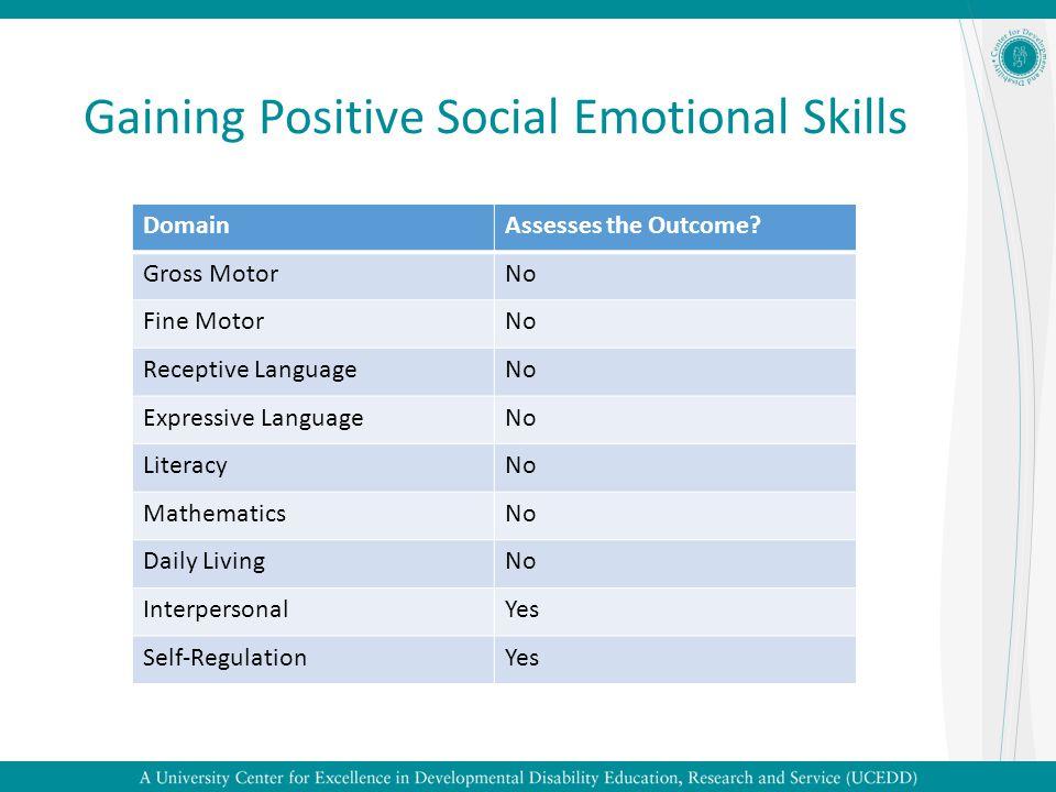 Gaining Positive Social Emotional Skills