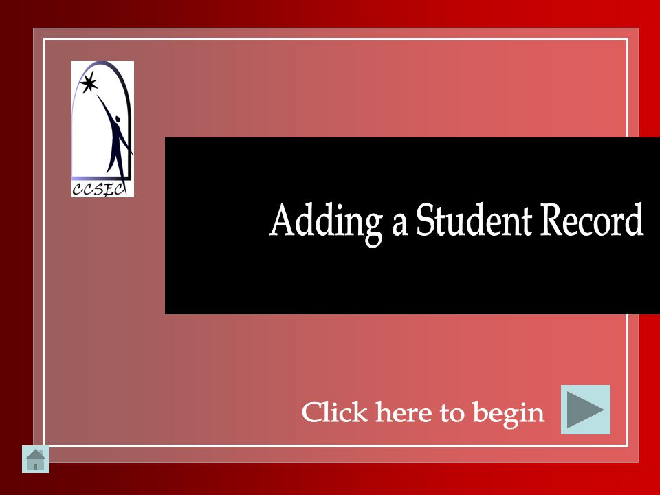 Adding a Student Record
