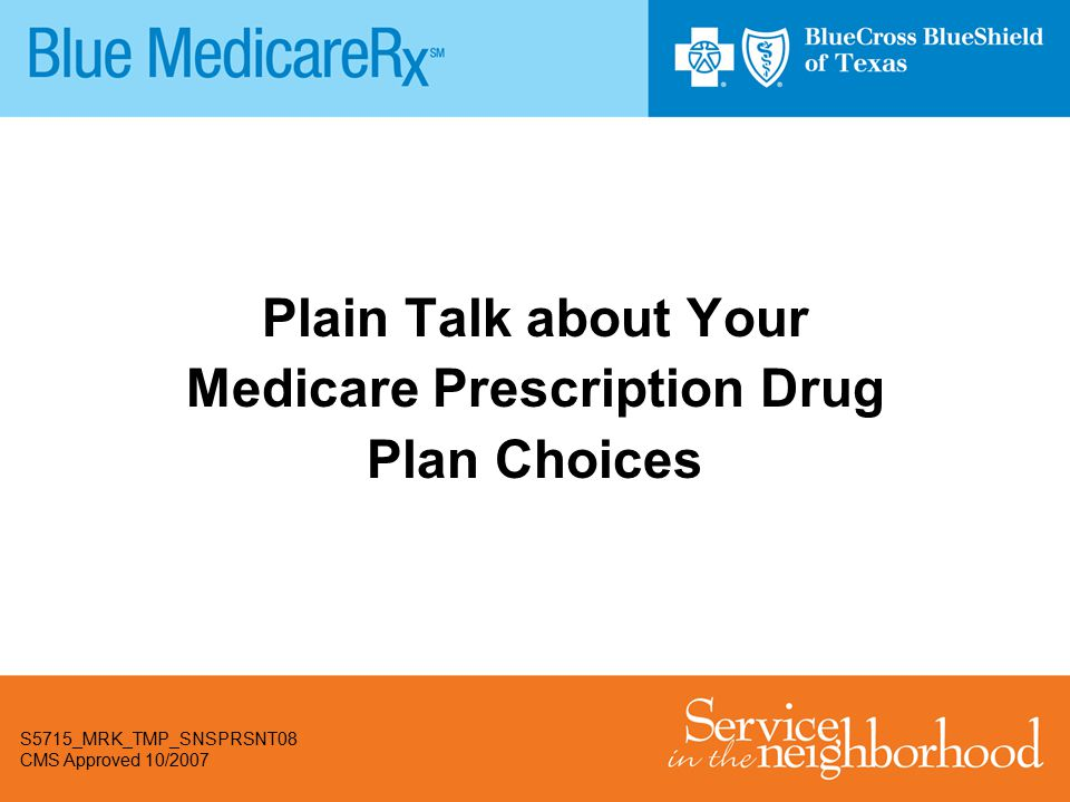 Plain Talk about Your Medicare Prescription Drug Plan Choices