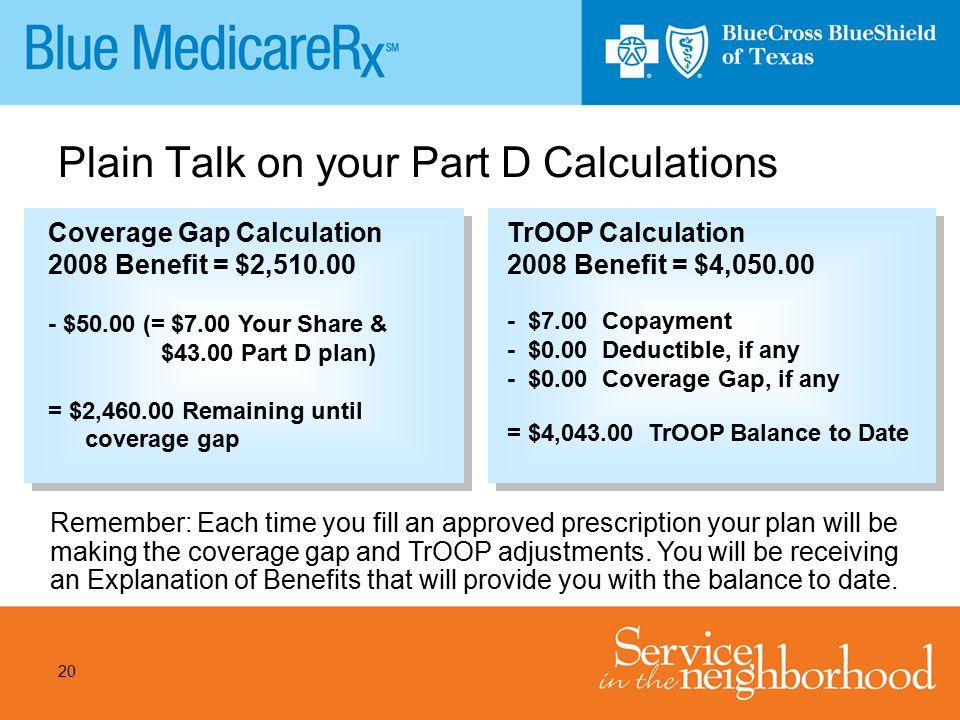 Plain Talk on your Part D Calculations