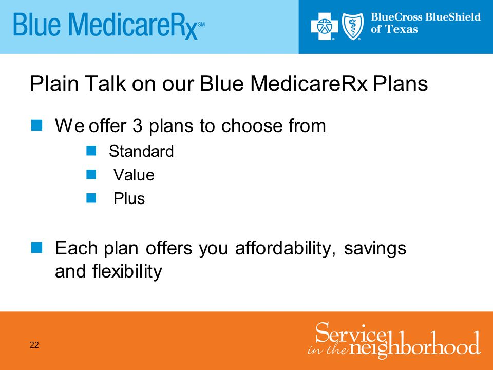 Plain Talk on our Blue MedicareRx Plans