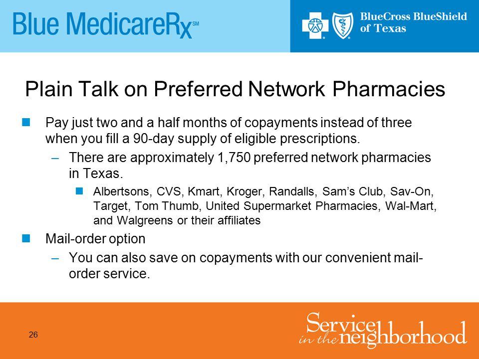Plain Talk on Preferred Network Pharmacies