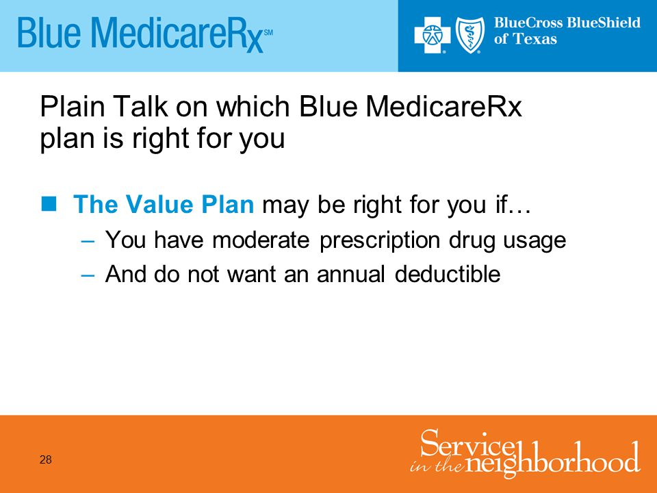 Plain Talk on which Blue MedicareRx plan is right for you