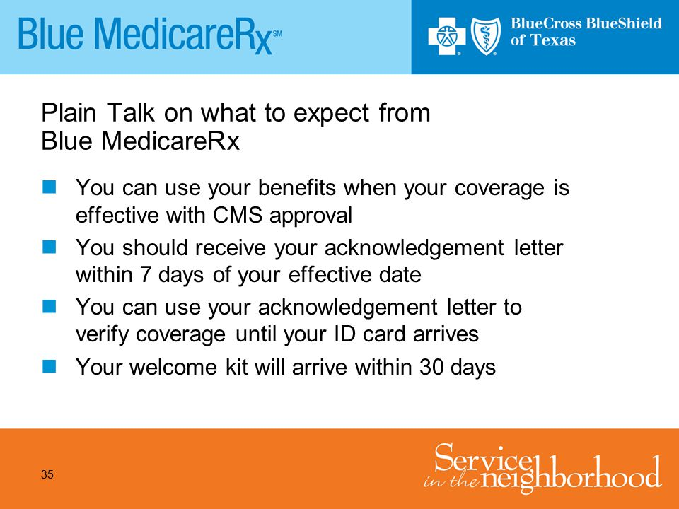 Plain Talk on what to expect from Blue MedicareRx