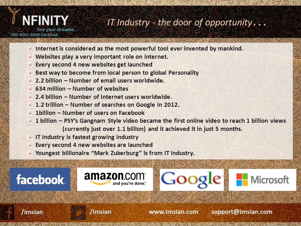 IT Industry - the door of opportunity…