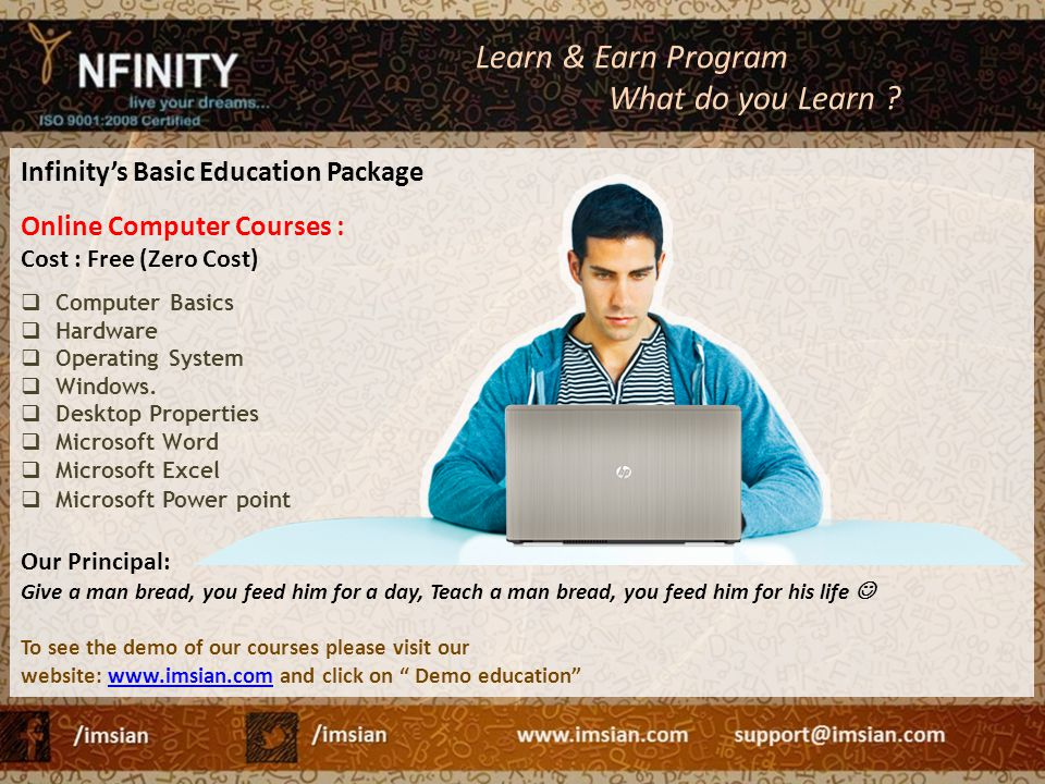 Learn & Earn Program What do you Learn