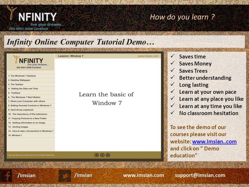 Infinity Online Computer Tutorial Demo…