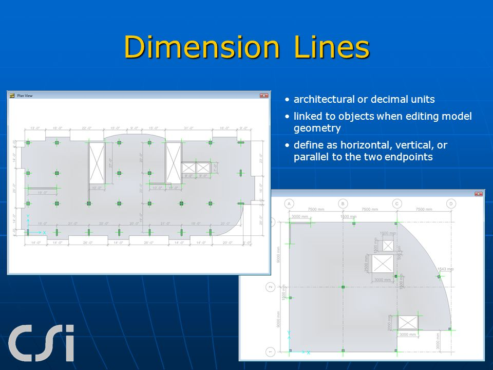 Dimension Lines architectural or decimal units