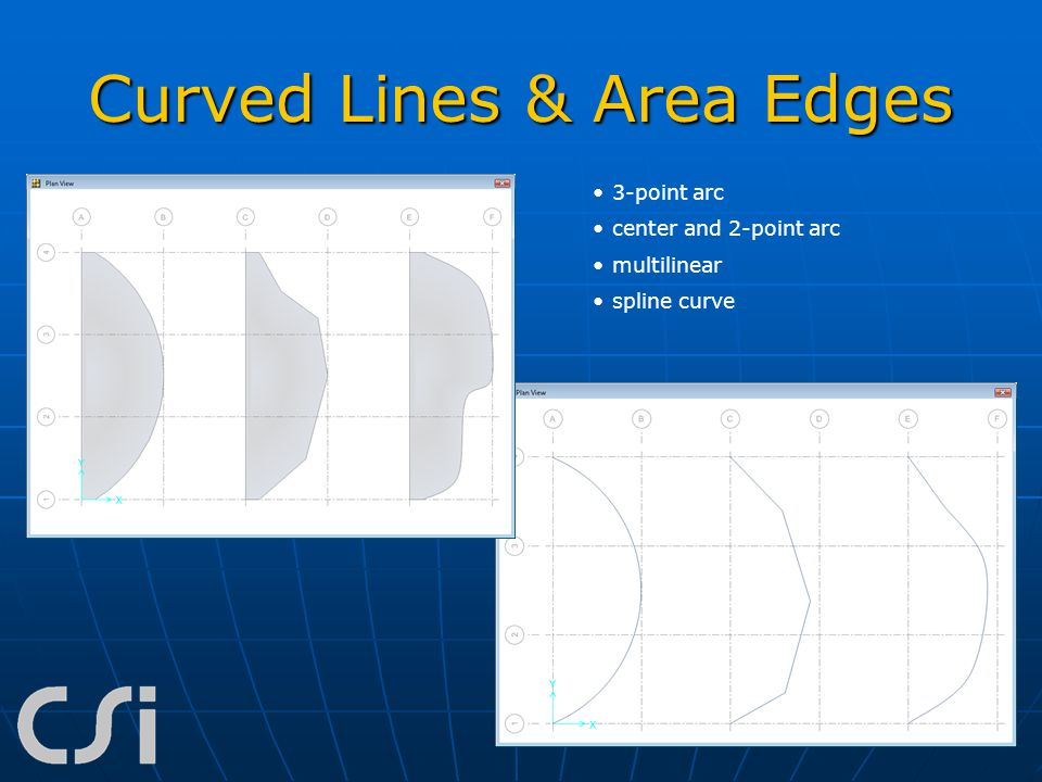 Curved Lines & Area Edges