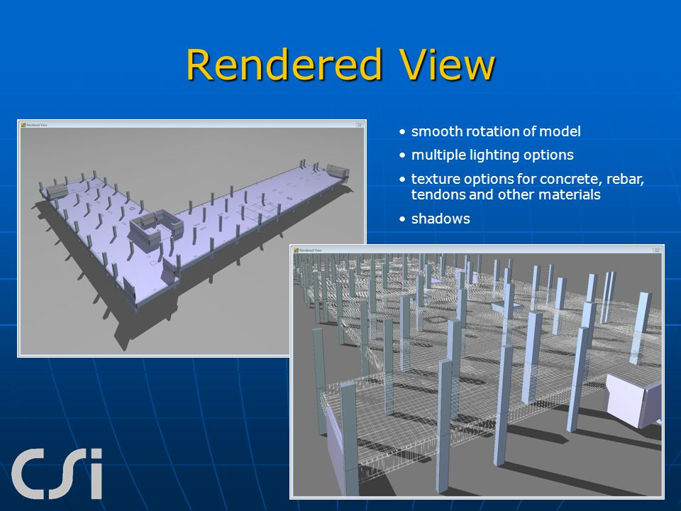 Rendered View smooth rotation of model multiple lighting options