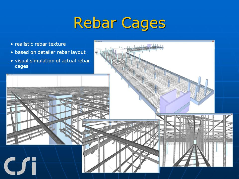 Rebar Cages realistic rebar texture based on detailer rebar layout