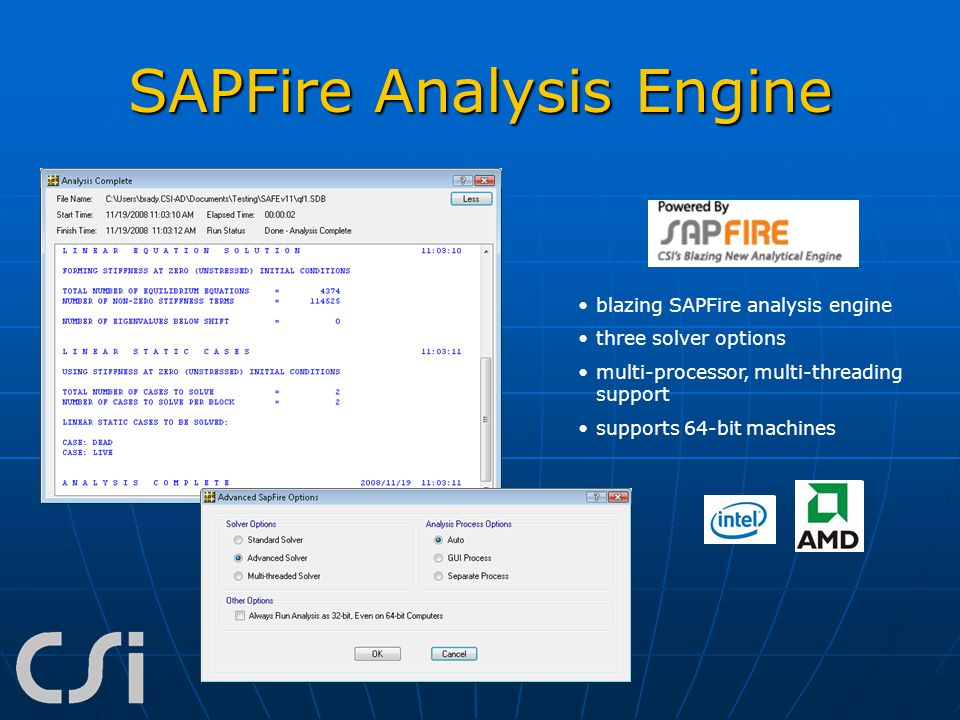 SAPFire Analysis Engine