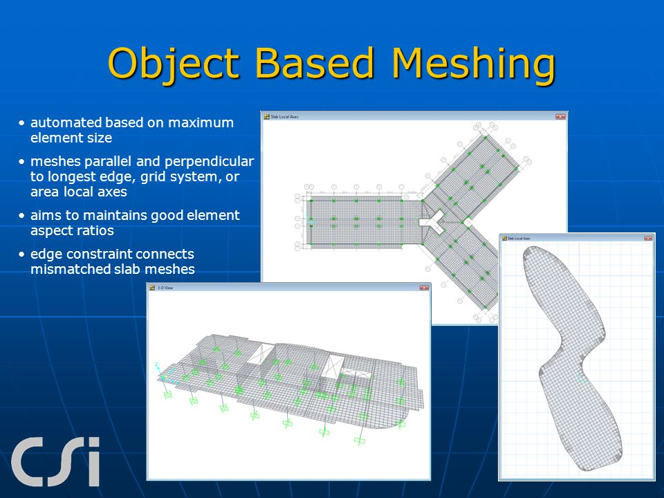Object Based Meshing automated based on maximum element size