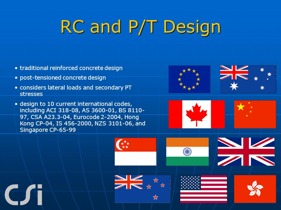 RC and P/T Design traditional reinforced concrete design