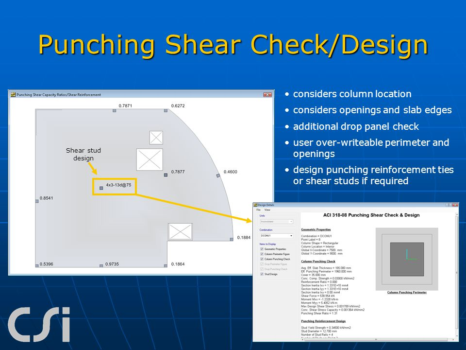 Punching Shear Check/Design
