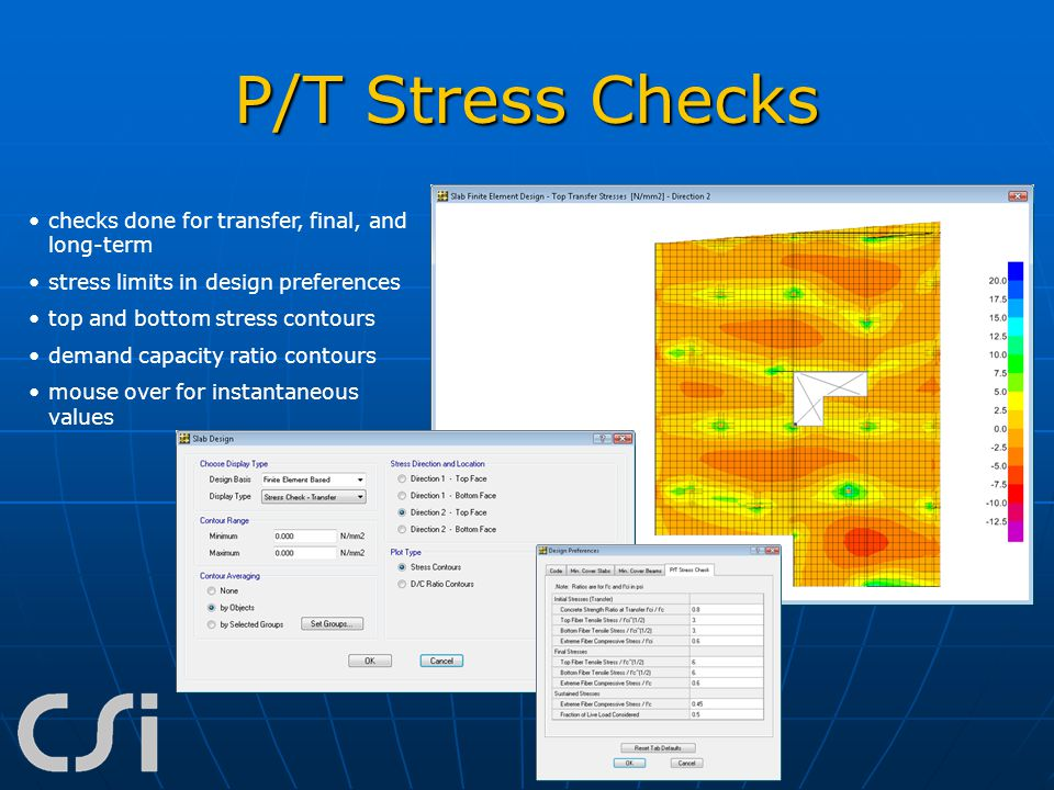 P/T Stress Checks checks done for transfer, final, and long-term