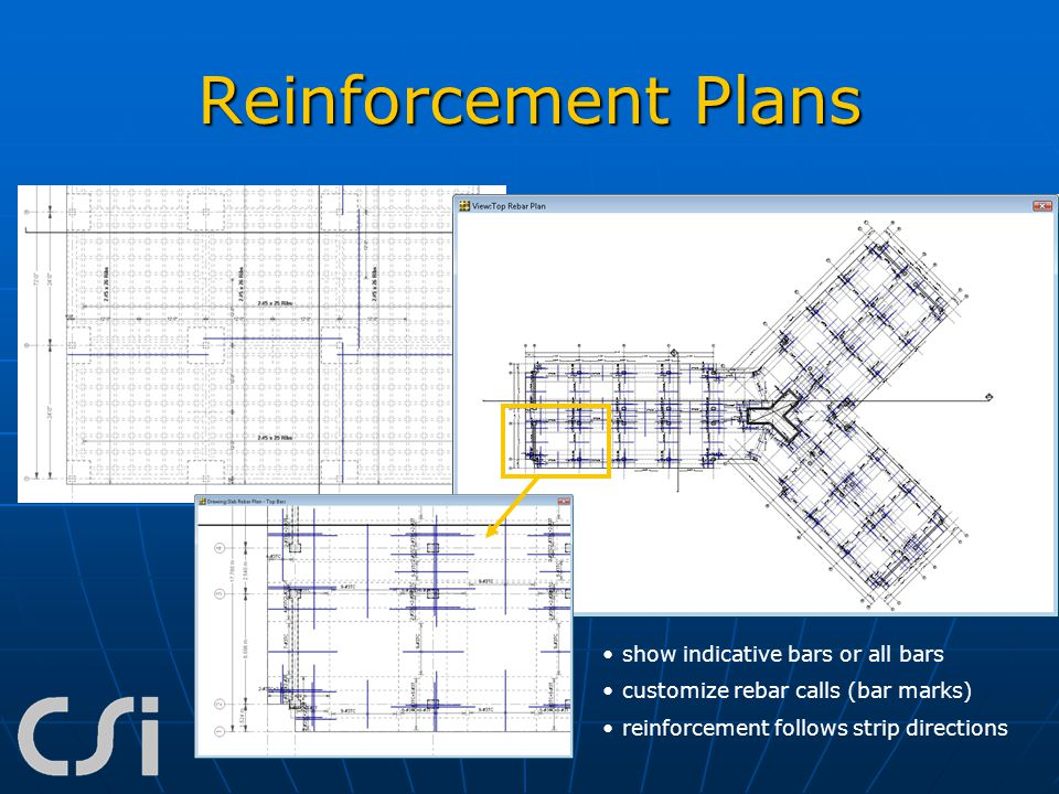 Reinforcement Plans show indicative bars or all bars