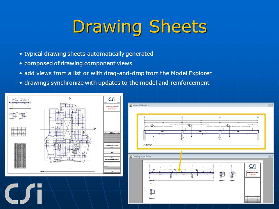 Drawing Sheets typical drawing sheets automatically generated