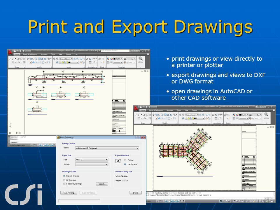 Print and Export Drawings
