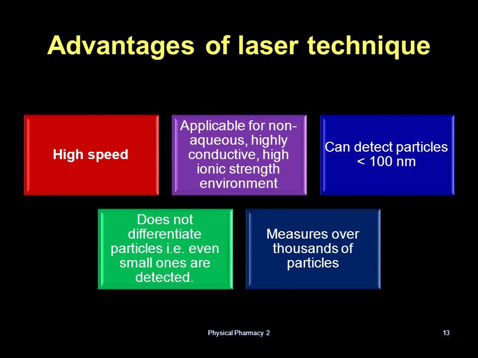 Advantages of laser technique