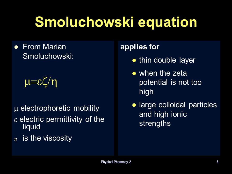 Smoluchowski equation