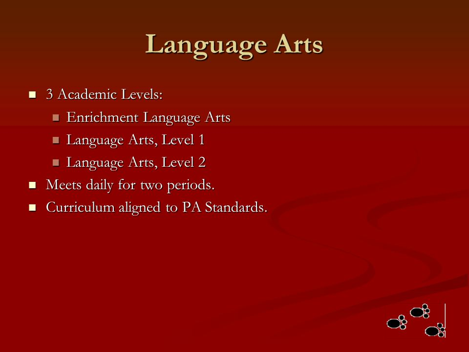 Language Arts 3 Academic Levels: Enrichment Language Arts