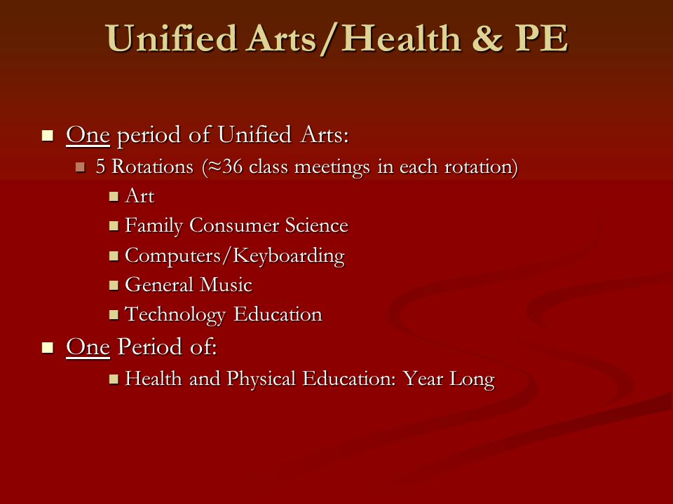 Unified Arts/Health & PE