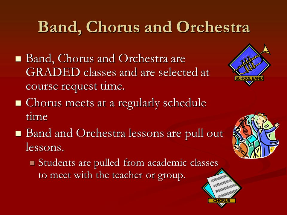 Band, Chorus and Orchestra