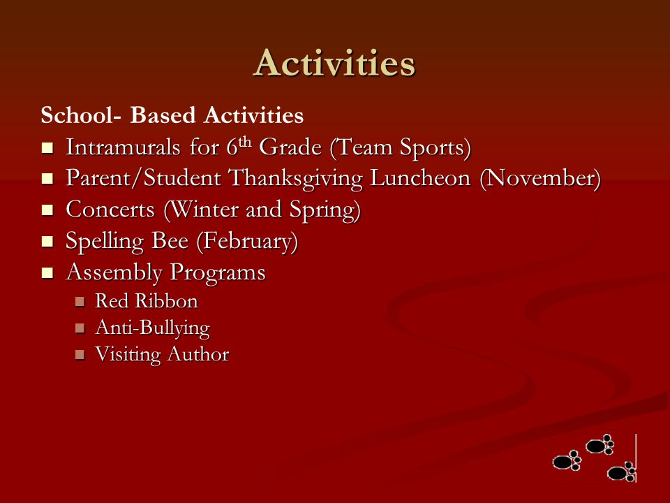 Activities School- Based Activities